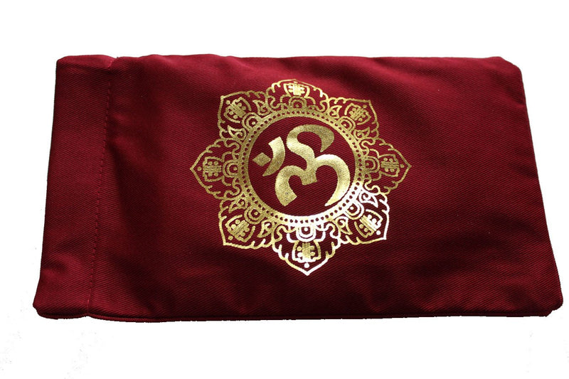 Eye Pillow Burgundy Shiva Mandala Foil