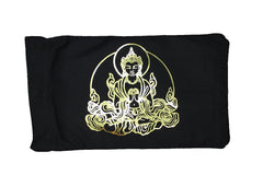 Eye Pillow Black Buddha Foil