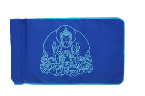 Eye Pillow Navy Buddha Turquoise