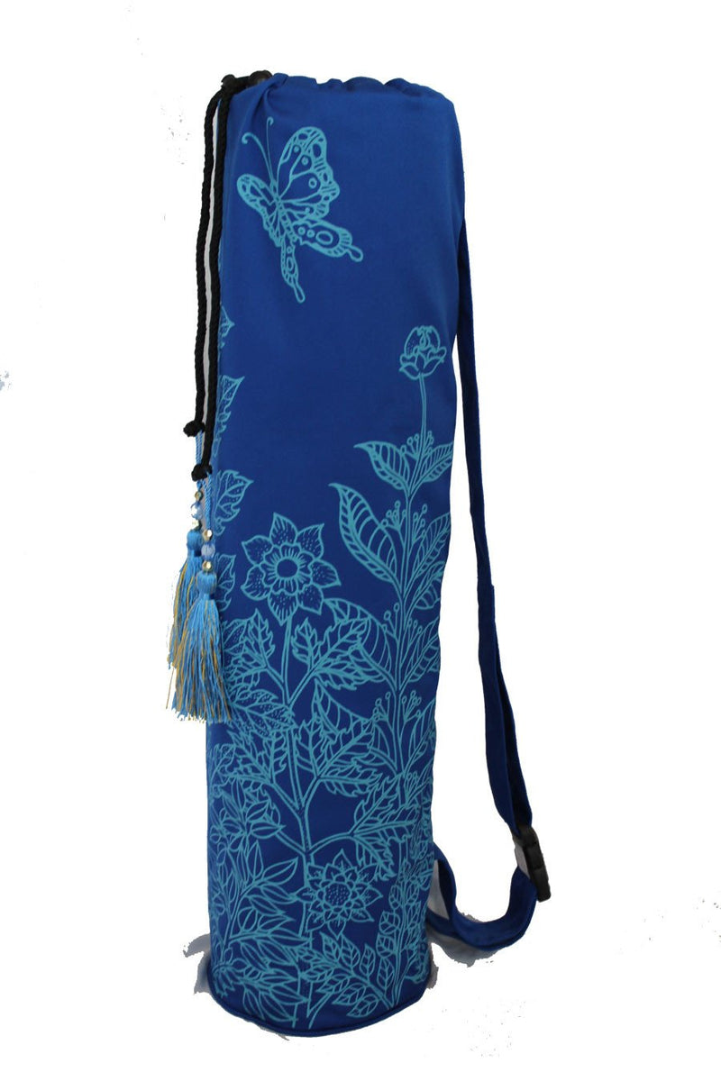 Yoga Mat Bag Secret Garden Collection Navy/Turquoise