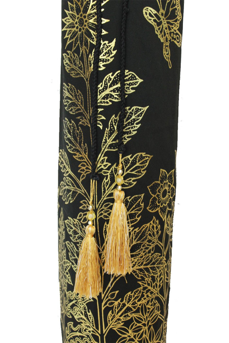 Yoga Mat Bag Secret Garden Collection Black/Gold Foil