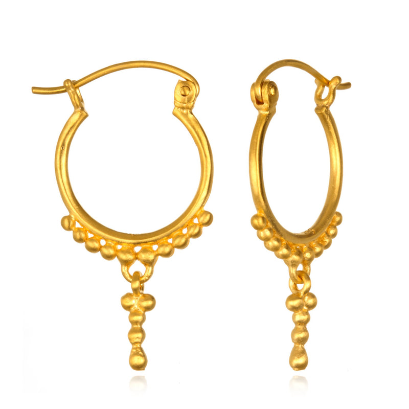 Gold Ball Hoops ceg086