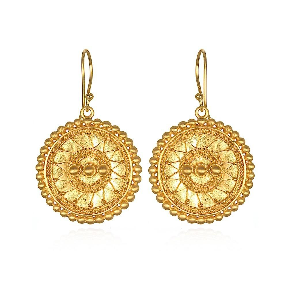 Gold Infinity Mandala Earrings ceg0714