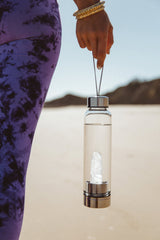 Crystal Water Bottle Clear Quartz Divine Goddess