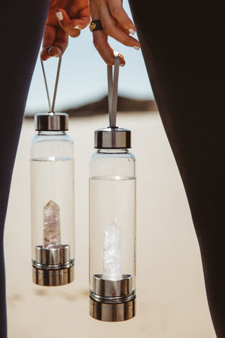 Crystal Water Bottle Amythyst Divine Goddess