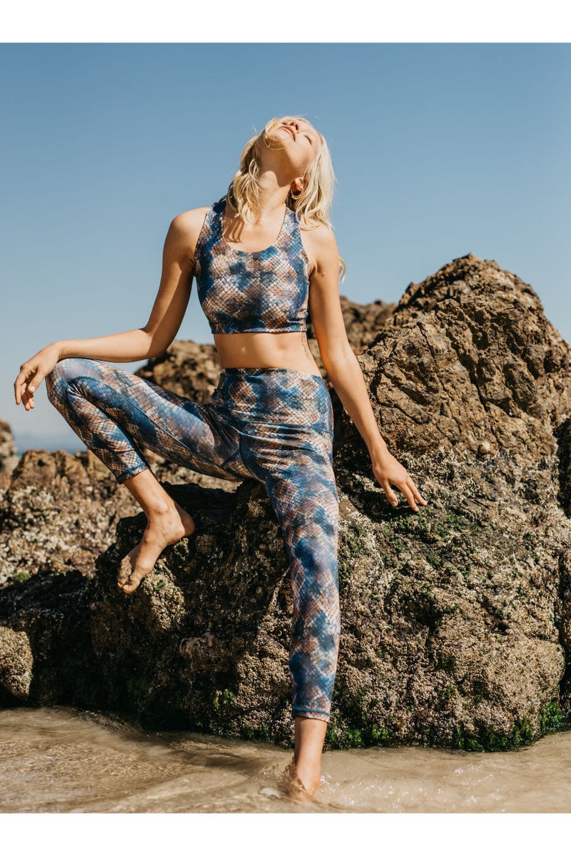 Roar Eco Friendly Dark Snake High Waist Leggings DGP39
