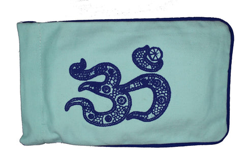Eye Pillow Aqua Jewelled Ohm Navy