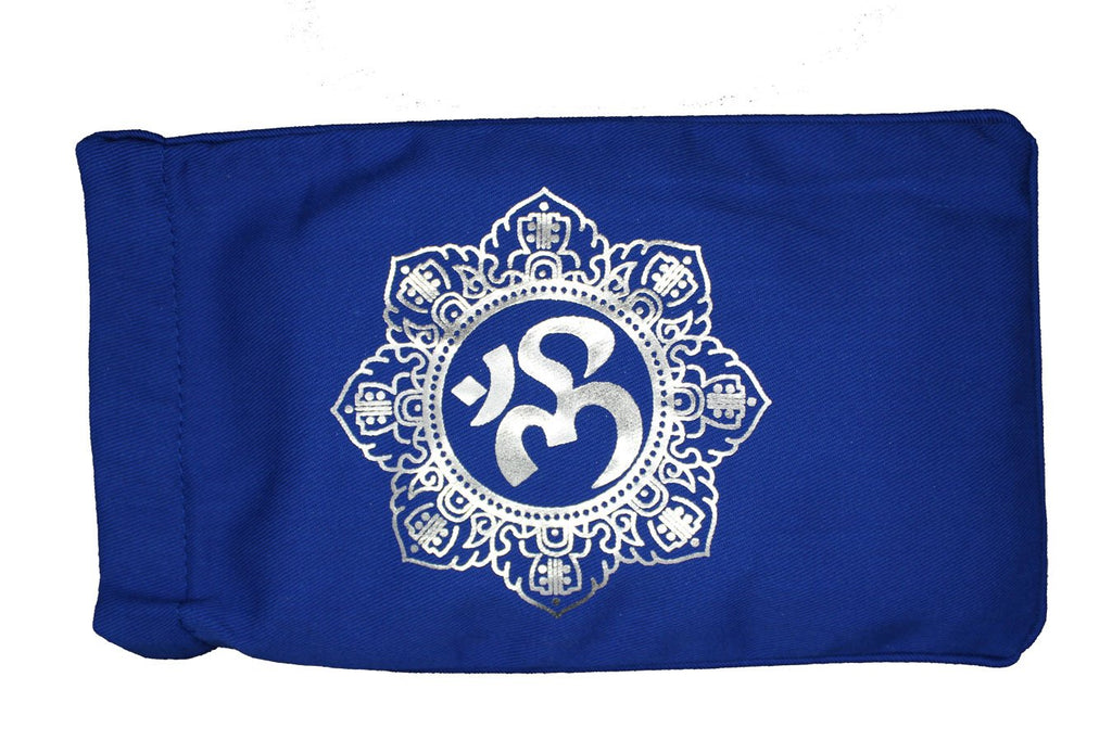 Eye Pillow Navy Shiva Mandala Foil
