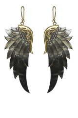 Black Gold Wings Large
