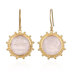 Rose Quartz Earrings EG9-35