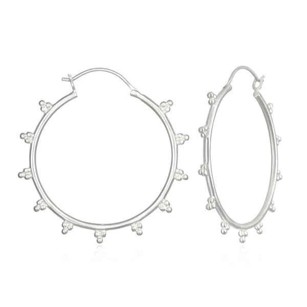 Radiant Sphere Silver Earrings ESH2