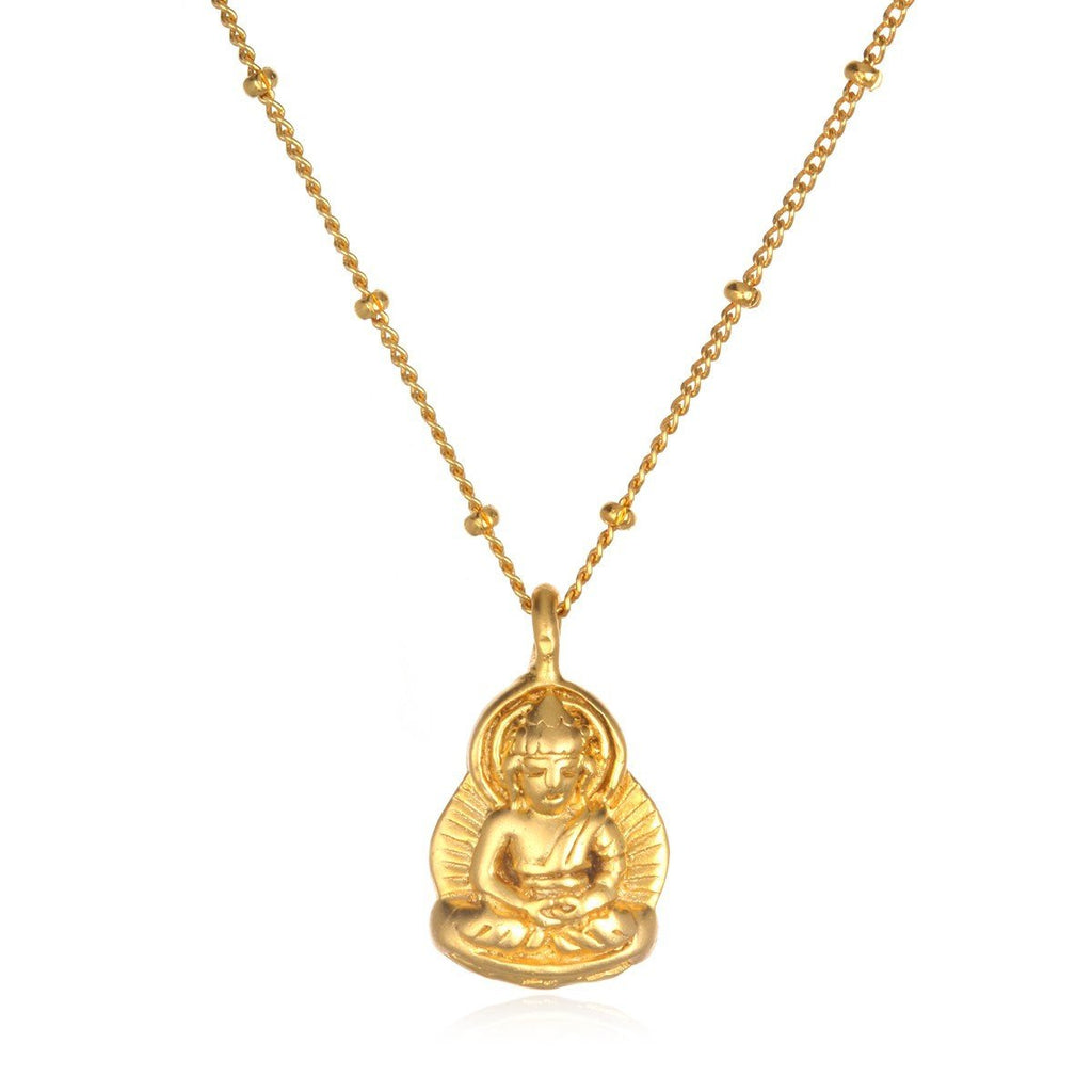 Gold Calming Buddha Necklace cng8-bud-l16