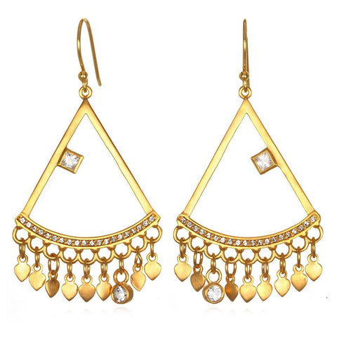 Gold Lotus Chandelier Earrings peg1-52