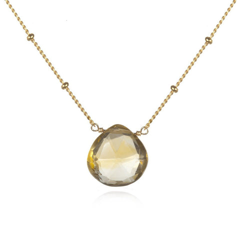 Gold Citrine Brighter Than Sunshine Necklace ng10a-13-l18-b