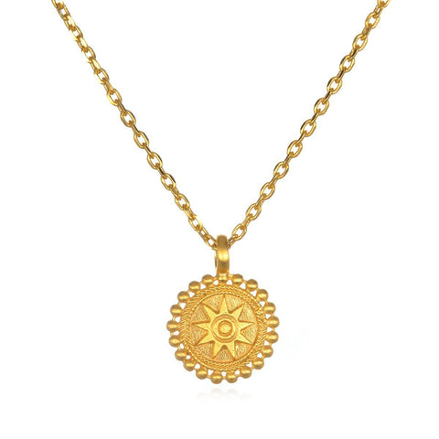 Gold Mandala Necklace cng0128-l16