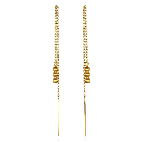 Gold Mini Chain Earrings ceg0720