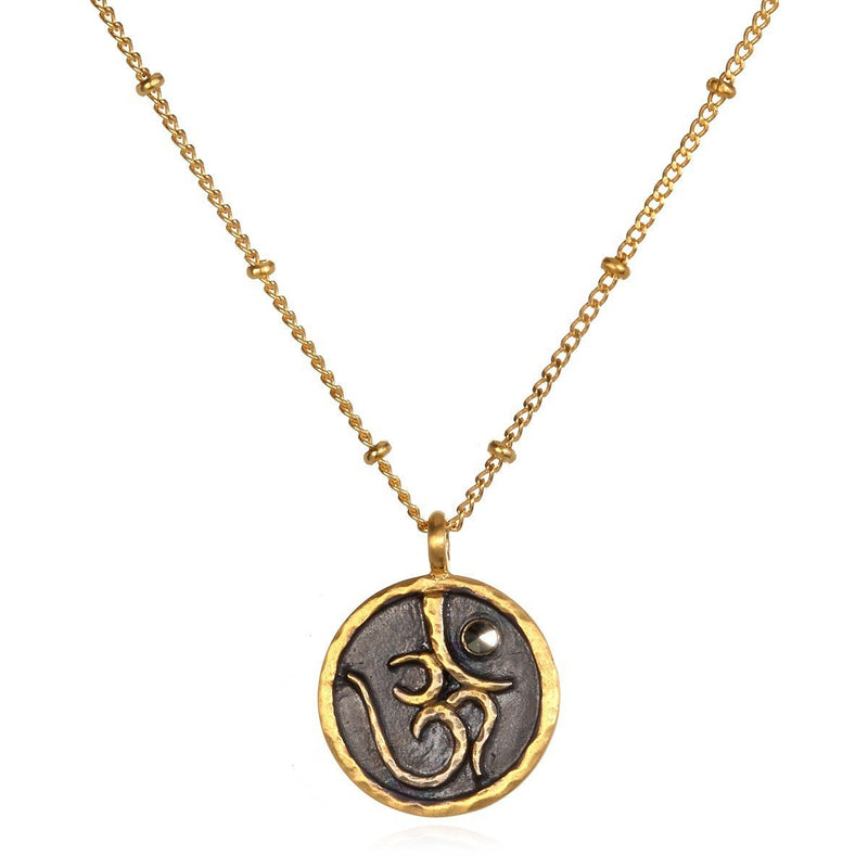 Gold Sacred Ohm Necklace ng1-om-91-l18