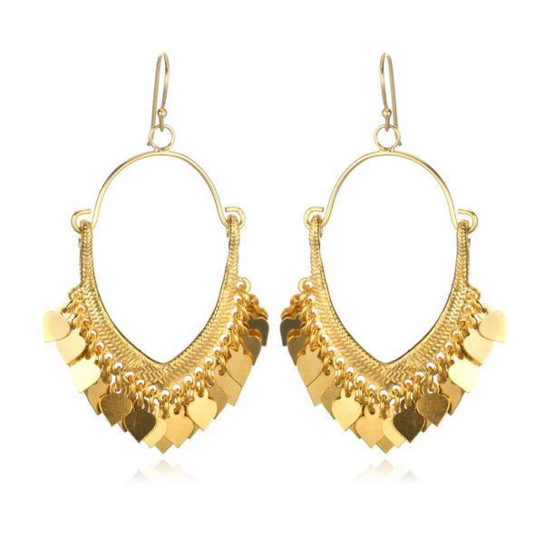 Gold Veils Earrings eg267-b