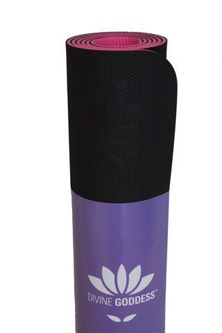 Eco Lite Yoga Mat Black/Pink