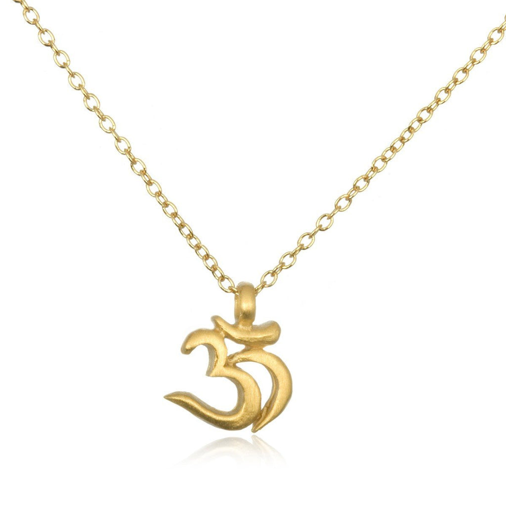 Gold Mini Sanskrit Ohm Necklace ng2-l16