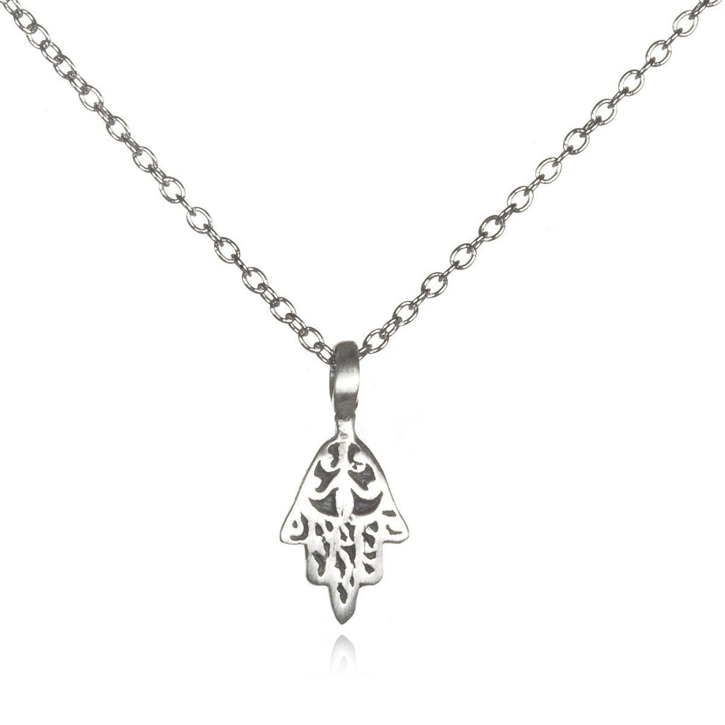 Silver Mini Hamsa Necklace ns599-l18