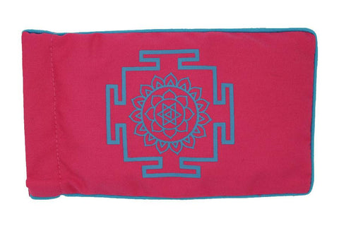 Eye Pillow Pink Yantra Turquoise