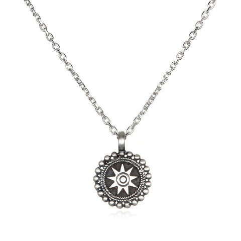 Silver Mandala Necklace cns0128-l16