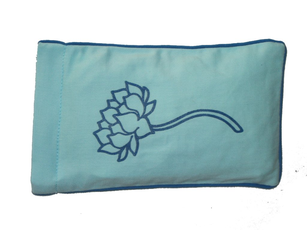 Eye Pillow Aqua Lotus Tree Navy