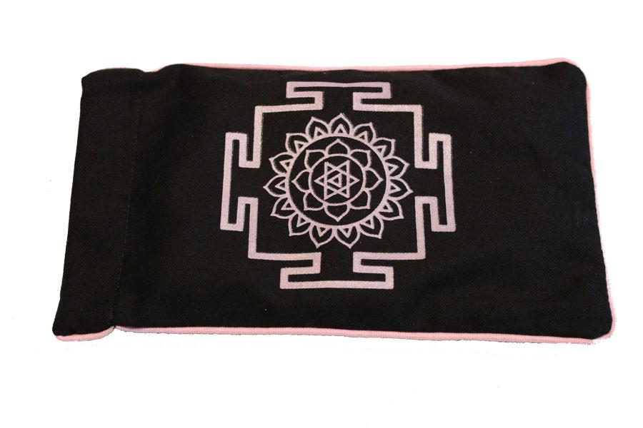 Eye Pillow Black Yantra Pink