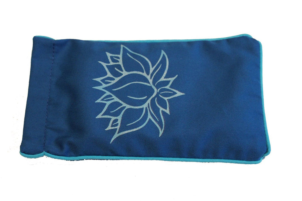 Eye Pillow Navy Lotus Turquoise