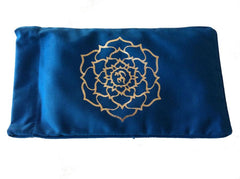 Eye Pillow Navy Ohm Lotus Foil