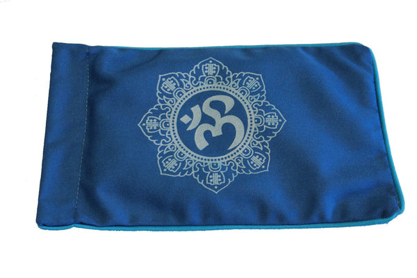 Eye Pillow Navy Shiva Mandala Turquoise