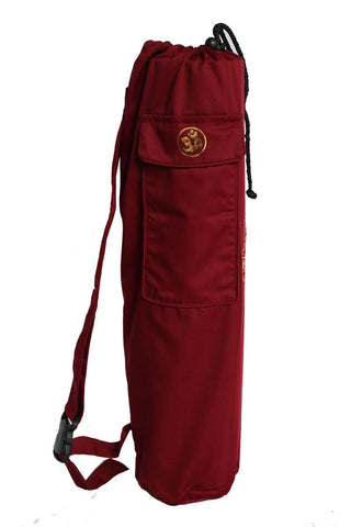 Yoga Mat Bag Burgundy Lotus Foil