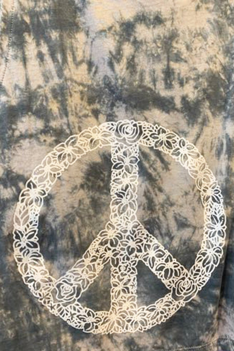 Tie Dye Canggu Peace Sign