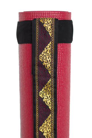 Carry Strap Exotic Burgundy/Gold