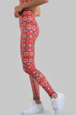 Fractal Recycled Plastic Leggings Wolven