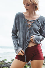Lace Me Up Sweater Tri52