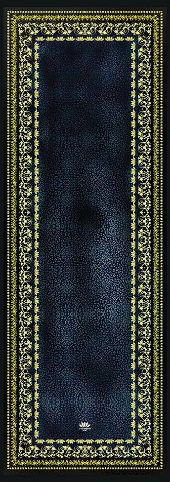 Yoga Towel Leopard Black