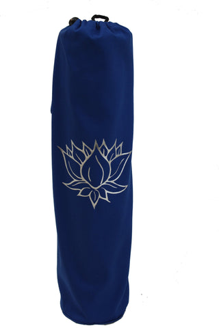 Yoga Mat Bag Navy Lotus Foil