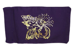 Eye Pillow Purple Flying Ganesha Foil
