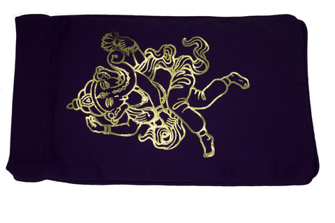 Eye Pillow Purple Ganesha Foil