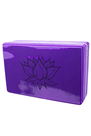 Block Purple Lotus Rainbow