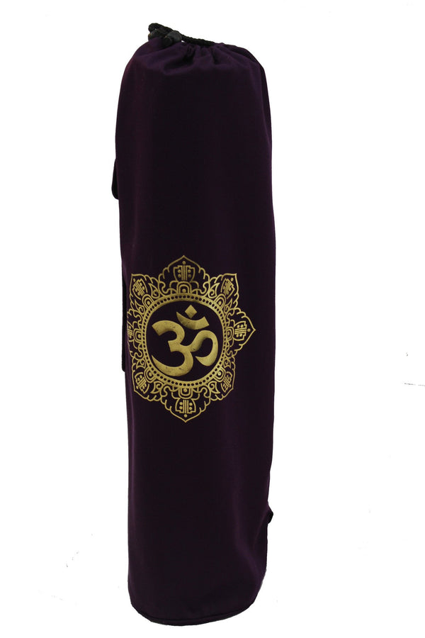 Yoga Mat Bag Purple Shiva Mandala Foil