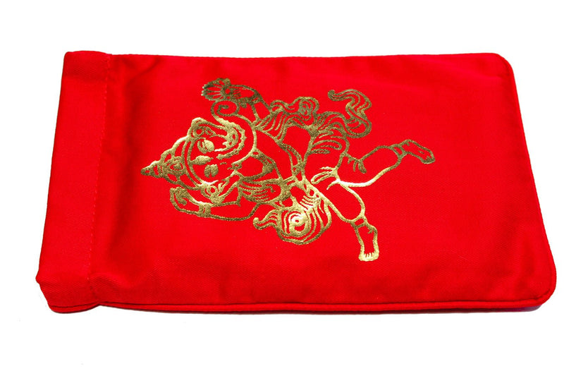 Eye Pillow Red Ganesha Foil
