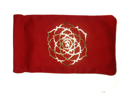 Eye Pillow Red Ohm Lotus Foil