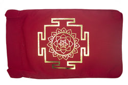 Eye Pillow Red Yantra Foil