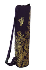 Yoga Mat Bag Secret Garden Collection Purple/Gold Foil