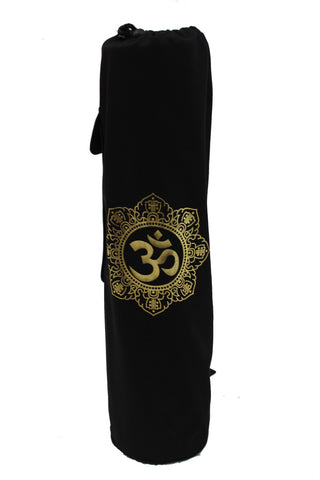 Yoga Mat Bag Black Shiva Mandala Foil
