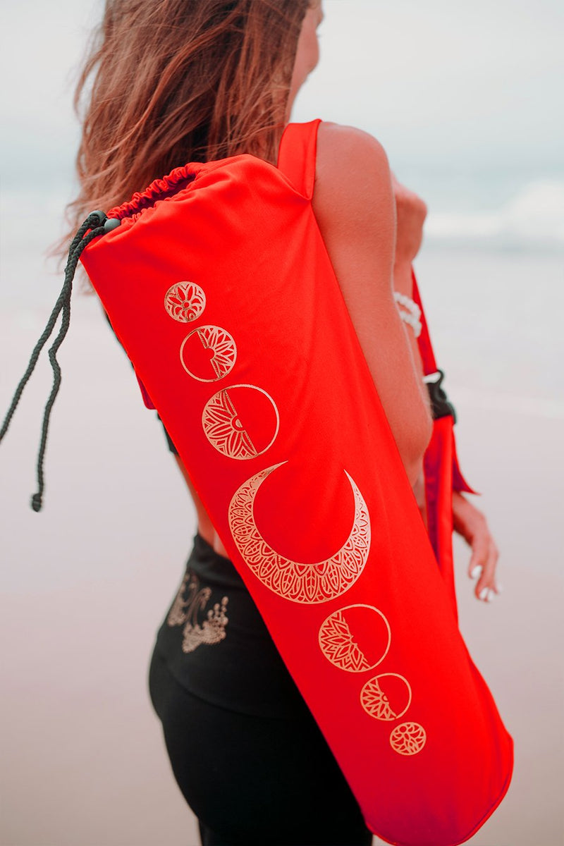 Yoga Mat Bag Luna Series Red