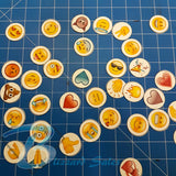35x Latest Popular Emoji Cupcake Toppers Wafer or Icing 35mm Cake Decorating